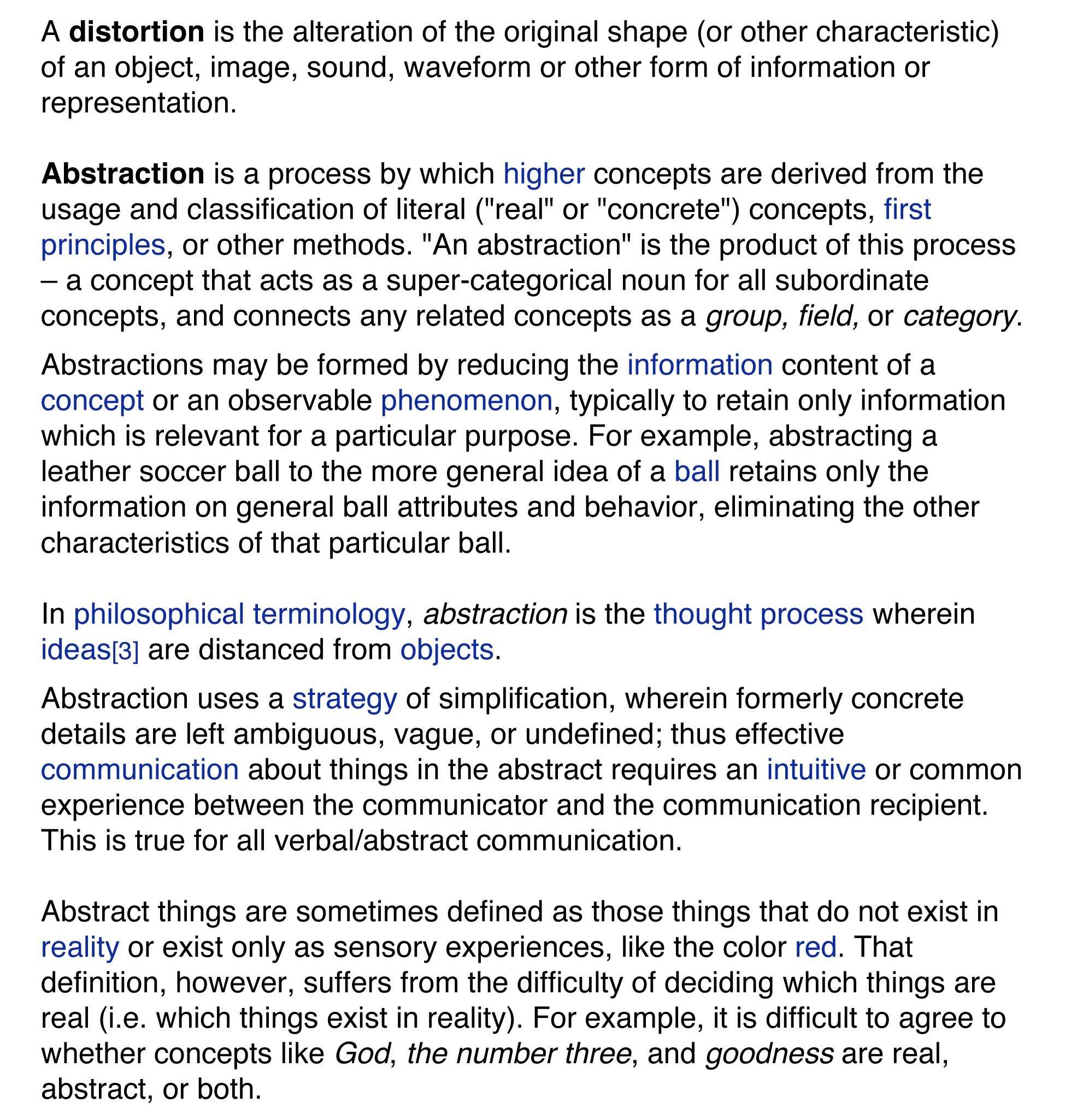 Microsoft Word   Distortion Vs Abstraction.doc